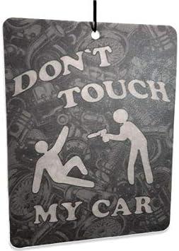 Topdesignshop Duftbaum Fürs Auto Don T Touch My Car Tuning Lufterfrischer Lustig Duft Anhänger Air Freshener Frisch Auto