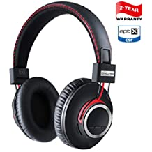 Bluetooth Headphones Wireless Over Ear Headset - High End CSR8645 Chip Apt-X Lossless Hi-Fi Stereo, Handmade Style Extra Comfortable and Lightweight, Deep Bass Headset with Mic, Unique