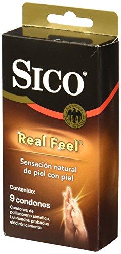 Sico Real Feel Cartera de 9 Condones Sin Látex