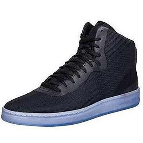 Nike Mens Nsw Pro Stepper Ankle-high Moda Tessuto Sneaker Nero Antracite Metallizzato Argento 001