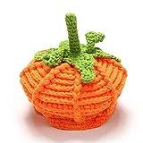 Kasien Baby Hat, Newborn Baby Cute Pumpkin Cap Knit Hat Halloween Costume Photography Prop (Orange)
