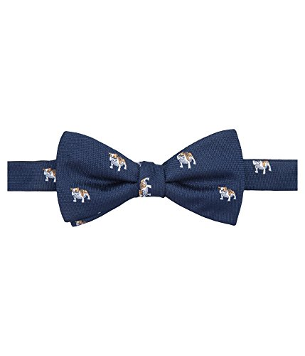 Countess Mara Men's Bulldog Pre-Tied Bow Tie (Navy, ONE SIZE) Bulldog Tie