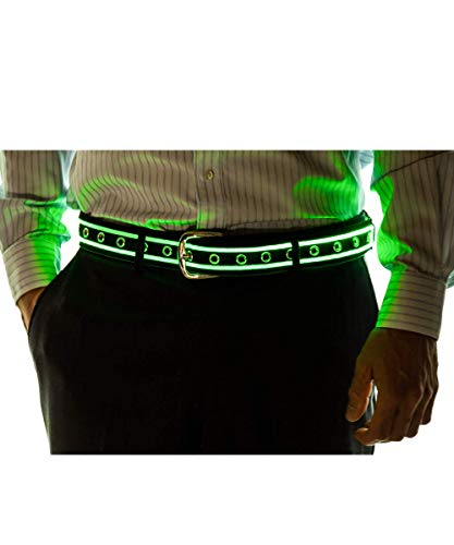 Neon Nightlife Light Up LED Belt, X-Small (Child), 18-23 Inches Waist Size, Green