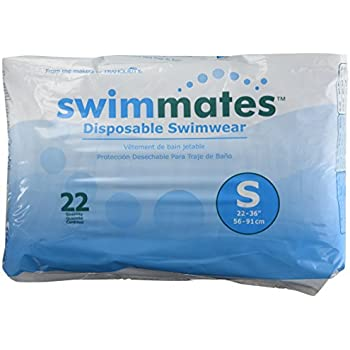 Swimmates Disposable Adult Swim Diapers, Small, 22