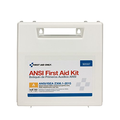 - Pac-Kit by First Aid Only 90597 50 Person First Aid Kit, ANSI A, Plastic Case with Dividers