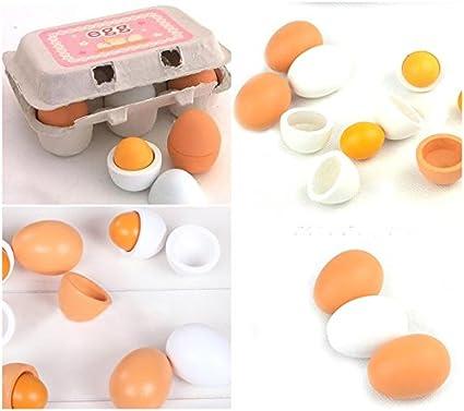 PF Wooden Egg Education Kitchen Kindergarten Toys Pretend Egg Yolk Food