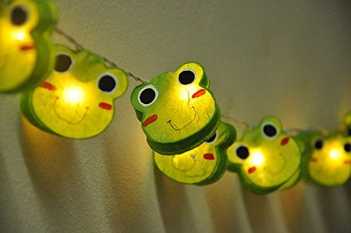 - Battery AA LED 20 lights Prince Frog Mulberry Paper Lantern String Light Kid Bedroom Light Display Garland Colorful