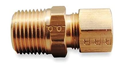 Parker Hannifin 68C-6-8-pk5 Compression Fitting Parker Hannifin Corporation Pack of 5 Male Connector Pack of 5 3//8 Compression Tube x 1//2 Male Thread 3//8 Compression Tube x 1//2 Male Thread Brass