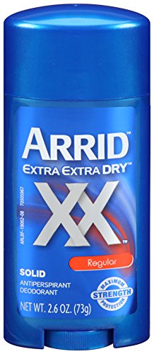 Arrid XX Maximum Strength Solid Antiperspirant Deodorant, Regular 2.6 oz (Pack of 6)