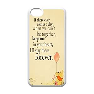 T-TGL(RQ) Personalized Winnie the Pooh quote Pattern Protective Hard Case for Iphone 5C
