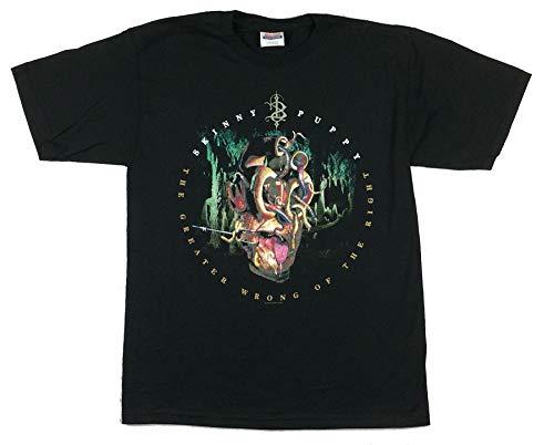 Skinny Puppy Greater Wrong Lyrics 2004 T Shirt (XL) Black -