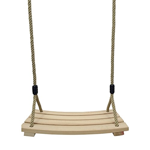 JOXJOZ Outdoor Indoor Curved Wooden Swing Chair for Children Adults