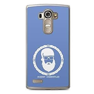 Blue Santa Badge LG G4 Transparent Edge Case - Christmas Collection