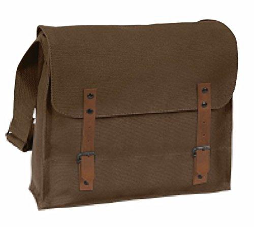 Vintage Military Style Medic Bag - Khaki Black Brown Od - Adjustable (Vintage Khaki Fatigue Cap)