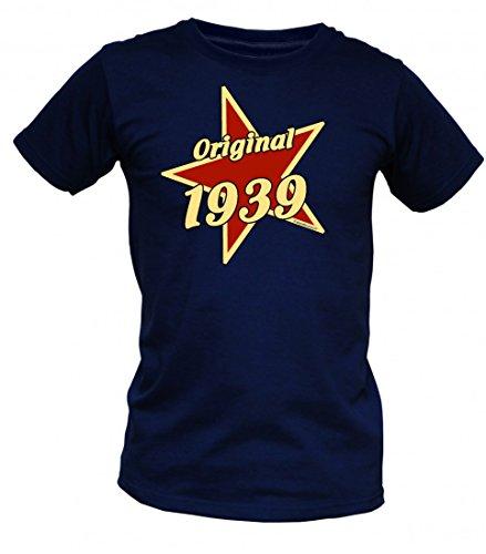 Birthday Shirt - Original 1939 - Lustiges T-Shirt als Geschenk zum Geburtstag - Blau