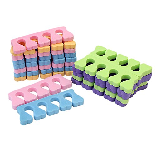 20x Soft Sponge Finger Toe Separator Tools for Salon Nail Art Manicure Pedicure(Color Sent Randomly) ReFaXi SPHLF2219