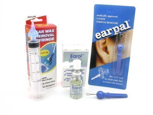 Aculife Ear Wax Removal Syringe with Earol & Earpal - 3 Great Products in 1 Kit by KPB