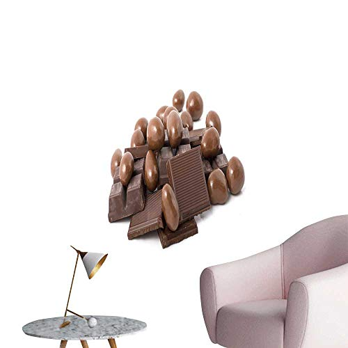 SeptSonne Wall Decals Stack Chocolate in Shape Environmental Protection Vinyl,24