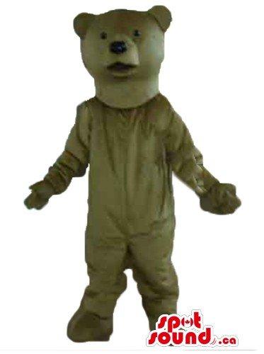 Giant khaki Grizzly Teddy Bear SpotSound Mascot US costume fancy (Giant Teddy Bear Costume)
