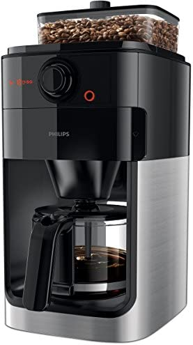 Philips hd7765/00 Grind y Brew filtro de café eléctrica, recipiente de Individual, color negro/metal: Amazon.es: Hogar