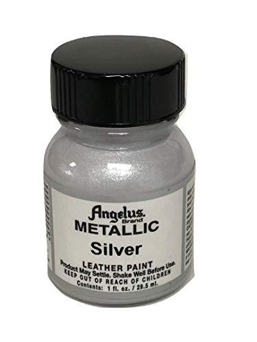 - Angelus Acrylic Leather Paint-1oz.-Silver