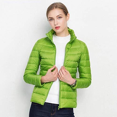 White Down Courtes Light Jacket 90Ultra Guxiu Printemps Portable Hiver Manteau Green Puffer Femmes Veste Vestes Windproof eW9DHI2EY