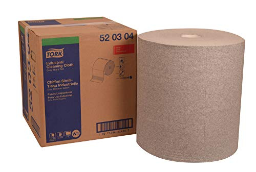 "Tork 520304 Industrial Cleaning Cloth, Giant Roll, 1-Ply, 16.9"" Width x 1,187.5"
