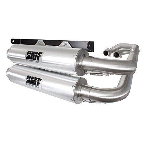 HMF Engineering Polaris RZR XP 900 2011 - 2014 Dual Full Exhaust Muffler Center Mount - Mount Full Exhaust