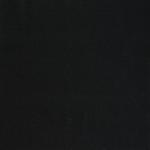(Solid Stretch Linen Fabric, Cotton Blend Linen Fabric Black)