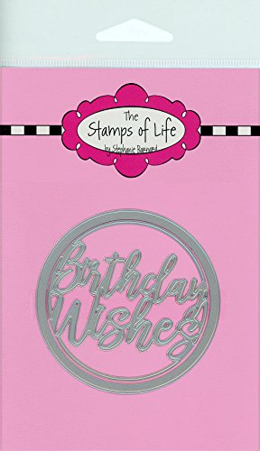 The Stamps of Life Birthday Wishes Die Cuts for Card Making Scrapbooking by Stephanie Barnard - Happy Birthday Dies Set -