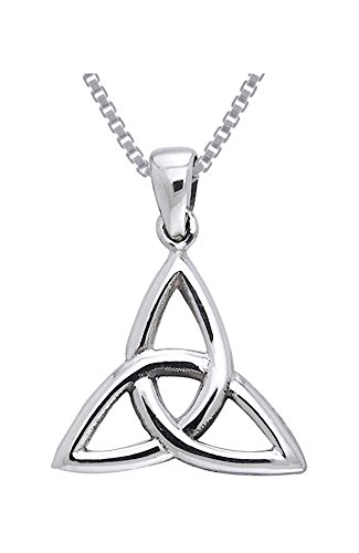 Jewelry Trends Celtic Triquetra Trinity Knot Sterling Silver Pendant