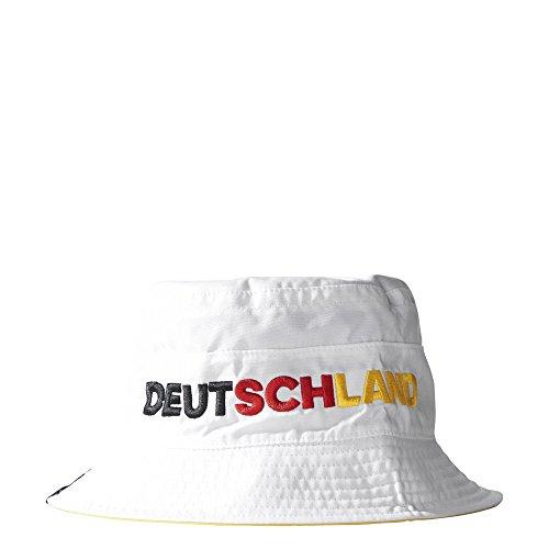 adidas Erwachsene Wannenhut CF Reversible Buck Deutschland, White/Power Red, OSFM, AJ4662