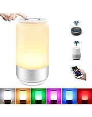 LE Lámpara de Mesa WiFi Inteligente, Lámpara de Noche WiFi, RGB Blanco Regulable (2000K - 6000K), Luz Nocturna WiFi Táctil Compatible con Alexa/Google Assistant/IFTTT, Ideal para Descansar, Leer y etc