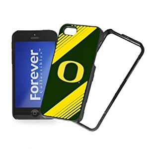 Forever Collectibles NCAA 2-Piece Snap-On iPhone 5/5S Polycarbonate Case - Retail Packaging - Oregon Ducks