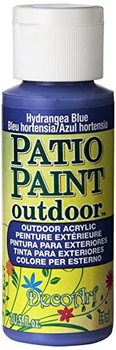 DecoArt Patio Paint, 2-Ounce, Hydrangea Blue (Acrylic Painting Hydrangea)