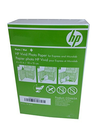 HP 4x6 Matte Vivid Photo Paper 900 Sheets CG465A Borderless (Matte Paper 4x6 Photo)