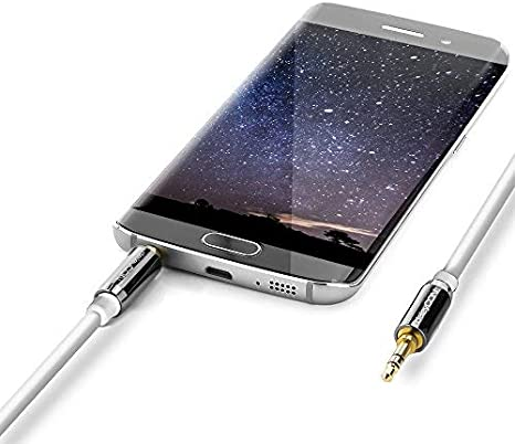 deleyCON 3,0m Jack Cable 3,5mm AUX Cable St/ér/éo Cable Audio Jack Plug Droit pour PC T/él/éphone Mobile Smartphone Tablette Voiture R/écepteur HiFi Blanc