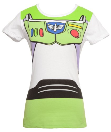 [Toy Story - I am Buzz - Junior's Costume T-Shirt (Medium)] (Buzz Lightyear Costumes Women)