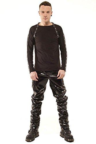 Phaze Hipster Jeans schwarz glänzend