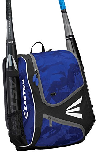 - EASTON E110YBP Youth Bat & Equipment Backpack Bag | Baseball Softball | 2019 | Royal | 2 Bat Sleeves | Smart Gear Storage | Valuables Pocket | Rubberized Zipper Pulls | Fence Hook