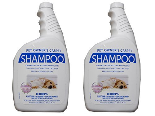 2 - 32 oz. Genuine Kirby Pet Owners Shampoo. Use with all model Kirby Vacuum Cleaner Shampooer Systems. by Kirby