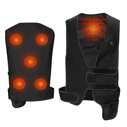 Heating Vest, Smart APP Control Washable Eight Heaters Heated Jacket, Fits Men and Women (No Battery) (L)