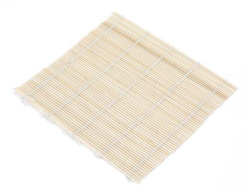 Wooden Sushi Press (Paderno World Cuisine Bamboo Sushi Mat and Wooden Rice Paddle)