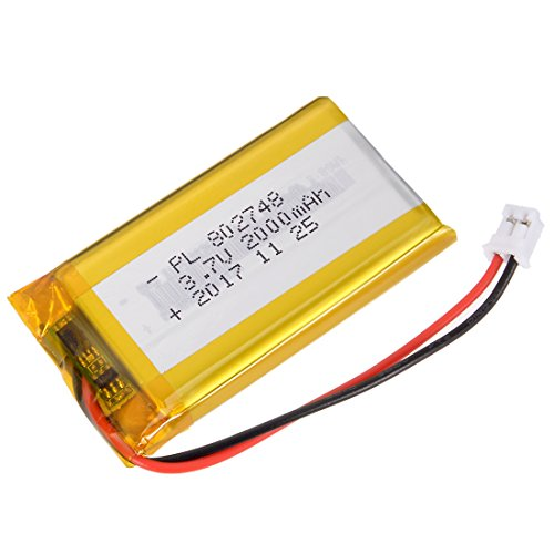 - uxcell Power Supply DC 3.7V 1225mAh 802748 Li-ion Rechargeable Lithium Polymer Li-Po Battery