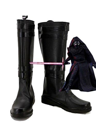 Star Wars: La Forza Risveglia Il Film Kylo Ren Cosplay Scarpe Con Stivali Cosplay Neri