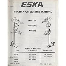1970's ESKA ELECTRIC OUTBOARD MOTOR MECHANICS SERVICE MANUAL