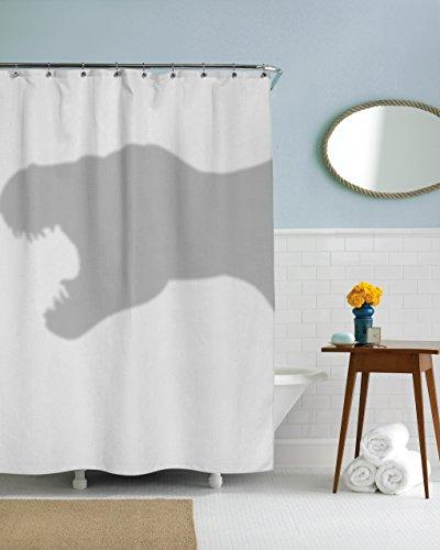 T-Rex Shower Curtain Funny Dinosaur Trex Shower Curtains Standard