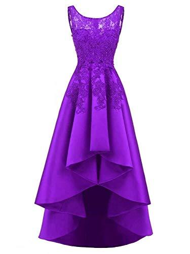 da Lace sera Jaeden Purple Prom Abiti Satin Party Bride TFlKc1J