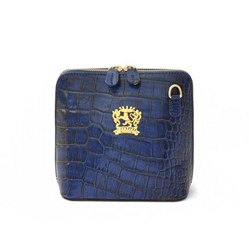 Sac en cuir véritable Pratesi Volterra - K467 King (jaune) Bleu