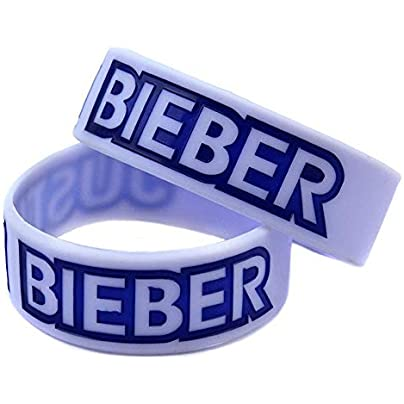 Sxuefang Silicone Bracelets With Sayings Justin Bieber Rubber Wristbands For Kids Motivation Set Pieces Estimated Price £29.99 -